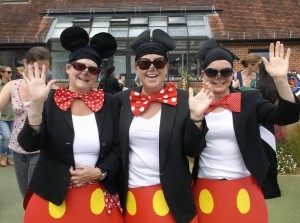 women dressed as minnie mouse