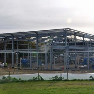 school sports hall under construction