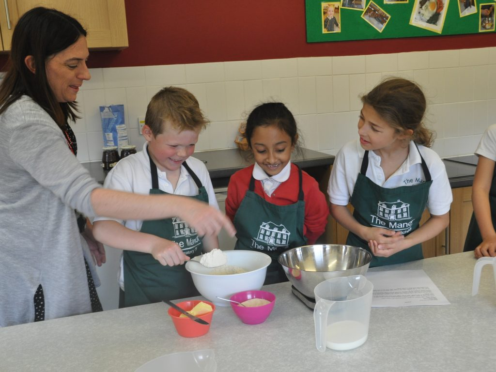 The Manor and Wootton Cookery lesson